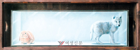 oil on canvas, acryl case, wood cabinet ⓒ김여운/ 갤러리 엠 7.15~8.14