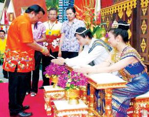 태국의 결혼식.