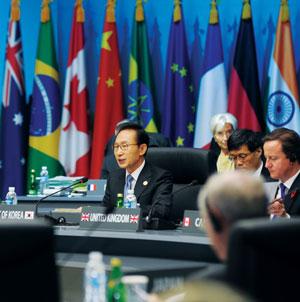 지난 11월 서울 G20정상회의선언문을 통해 금융소비자 보호를 강화하겠다고 발표했다. 사진은 서울 G20정상회의를 주재하고 있는 이명박 대통령.sumatriptan patch http://sumatriptannow.com/patch sumatriptan patch