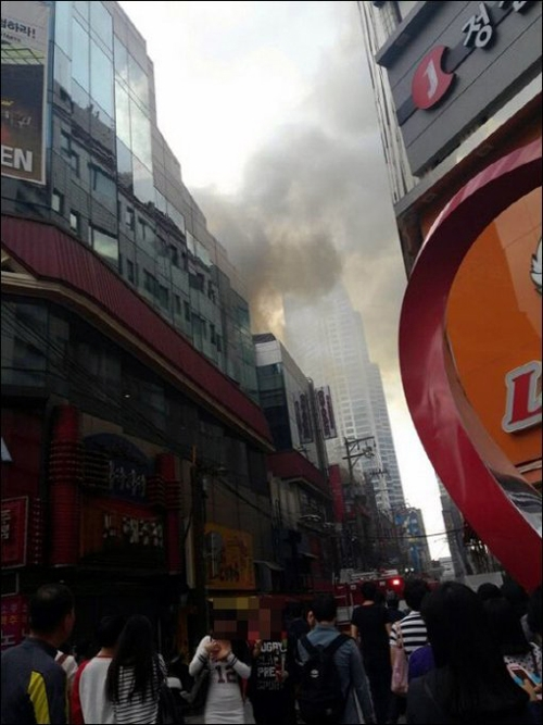 부산 서면 화재(사진 출처=온라인커뮤니티)