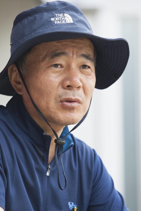 김웅기군의 아버지 김학일씨.
