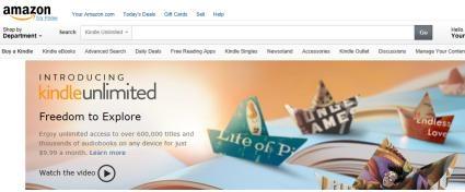 아마존이 월 9.99달러(약 1만원)에 무제한으로 전자책을 보고 오디오북을 듣는 서비스를 출시했다. ⓒ아마존닷컴