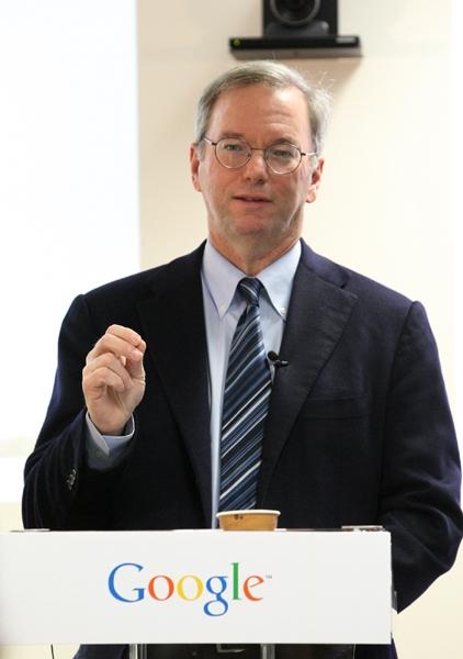 구글 CEO인 에릭 슈미트 회장이 2015 다보스포럼에서 미래에 인터넷은 사라지게 될 것이라고 말했다. ⓒ구글 코리아