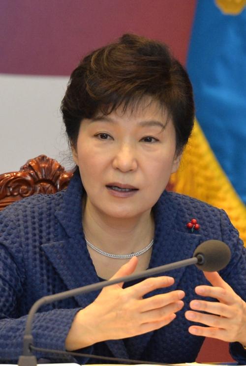 박근혜 대통령이 26일 오전 청와대에서 올해 첫 수석비서관회의를 주재하고 있다. 지난해 12월15일 이후 40여일만에 열린 회의다. ⓒ뉴시스·여성신문