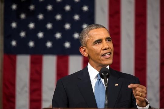 새해 국정연설을 발표 중인 버락 오바마 대통령의 모습. ⓒOfficial White House Photo by Pete Souza