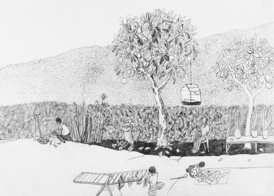 문성식 6월의 뻐꾸기, 2002, 종이에 연필.
