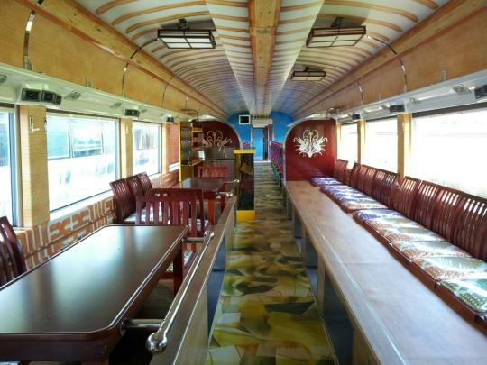 남도 해양관광열차 다례실 ⓒ코레일