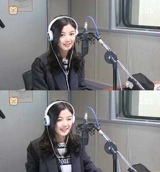 SBS 파워FM 공형진의 씨네타운에 출연한 배우 김유정