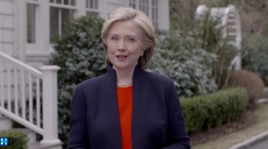 12일 발표한 대선 출마 선언 동영상에 등장한 힐러리 클린턴의 모습. ⓒhillaryclinton.com