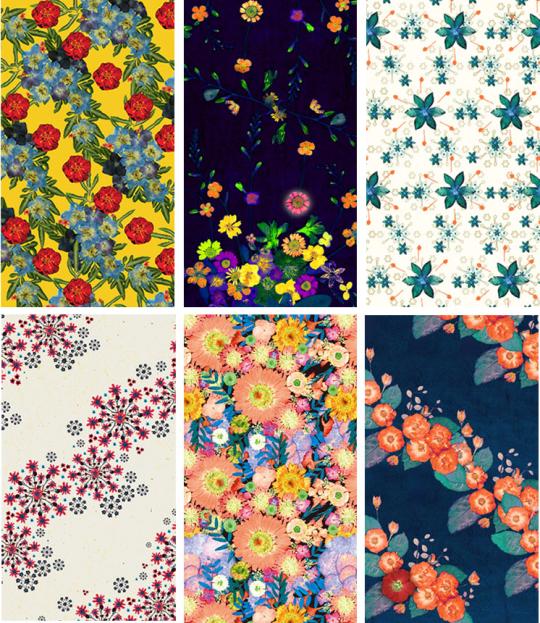 위안부 피해자 할머니들의 압화 작품을 바탕으로 한 마리몬드의 꽃 패턴 디자인 ⓒ마리몬드 제공