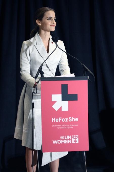 미국 뉴욕 유엔본부에서 열린 유엔여성 '히포시' 캠페인 행사에서 유엔여성 친선대사인 엠마 왓슨이 연설하고 있다. abortion pill abortion pill abortion pill