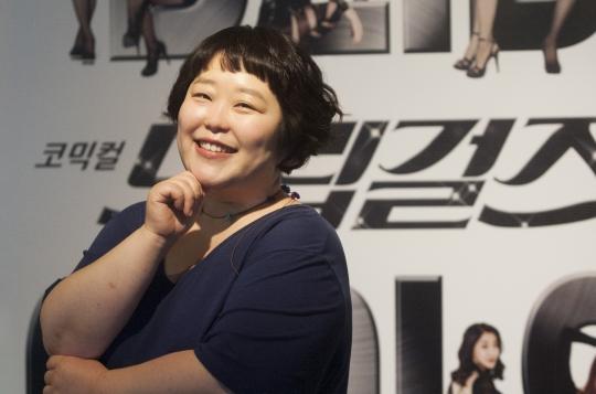 시즌1부터 드립걸즈를 만들어 온 오미영 연출가는 '드립만으로 채워보자'가 이번 공연 콘셉트라고 말했다. ⓒ이정실 여성신문 사진기자