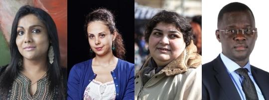 2015년 앨리슨 데스 포지스 인권상 수상자들. 왼쪽부터 니샤 야윱, 야라 베이더, 하디자 이스마일로바, 니콜라스 오피요. ⓒHuman Rights Watch