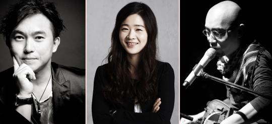 2016 세종문화회관 신년음악회 무대에 서게 될 장구 연주가 민영치, 소리꾼 이자람, 가수 하림.(왼쪽부터)