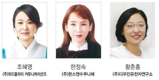 한국여성경제인협회 서울지회 모범기업인상 서울특별시장 표창 수상자