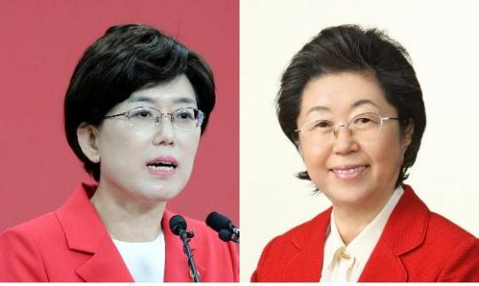 새누리당 최연혜(왼쪽), 이은재 의원 ⓒ뉴시스·여성신문