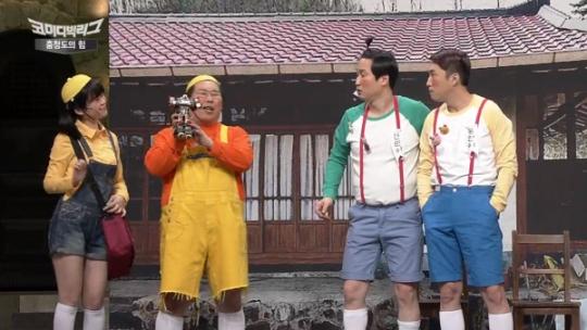 tvN 코미디빅리그 '충청도의 힘' 코너에서 한부모가정을 비하해 물의를 빚은 개그맨 장동민(맨오른쪽). ⓒtvN