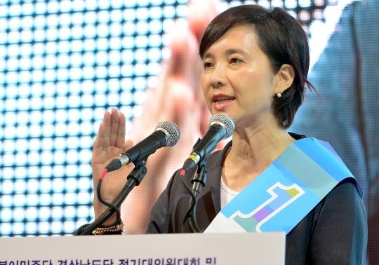 유은혜 더불어민주당 전국여성위원장 겸 여성최고위원 후보 ⓒ뉴시스·여성신문
