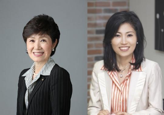 세계여성이사협회 공동대표를 맡은 손병옥 푸르덴셜 회장과 한경희 한경희생활과학 대표(왼쪽부터).