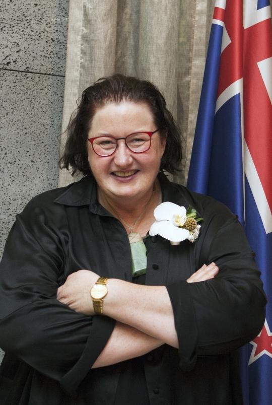 지난 5일 서울 용산구 주한 뉴질랜드 대사관저에서 열린 '여성 리더십 기여 축하 리셉션'에서 만난 클레어 펀리(Clare Fearnley) 주한 뉴질랜드 대사. ⓒ이정실 사진기자