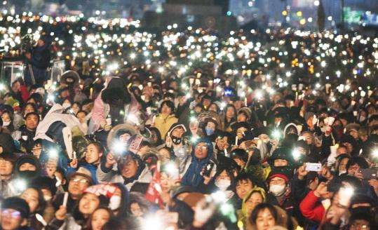 26일 열린 제5차 촛불집회 ⓒ이정실 사진기자