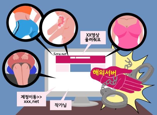 경찰이 지난 4월 국내 최대 불법음란물 사이트 '소라넷' 폐쇄를 발표했다. ⓒ일러스트 이재원