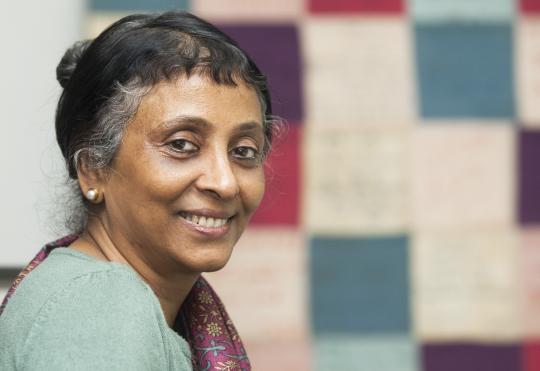 인도의 1세대 페미니스트 운동가이자 '인도타임즈' 저널리스트로 활동했던 파멜라 필리포스. ⓒ이정실 사진기자