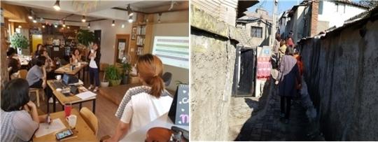 지난해 동작구에서 진행한 '도란도란 동네한바퀴' 여성안전공동체 성폭력 예방활동. ⓒ서울시