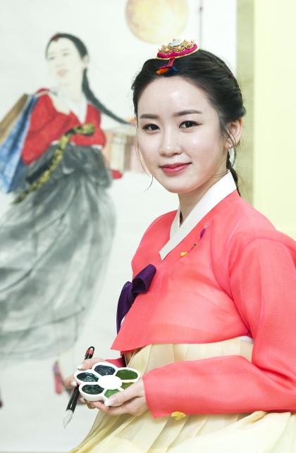한국화가 김현정 ⓒ이정실 여성신문 사진기자