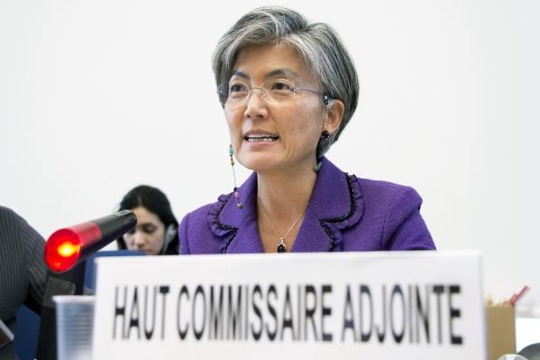 2012년 CEDAW 30주년 기념 행사에서 발언 중인 강경화 현 유엔 정책특보(당시 유엔고등인권부판무관).