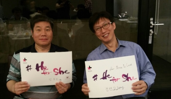 좌로부터 김홍치, 정현교 ⓒ권은주 기자