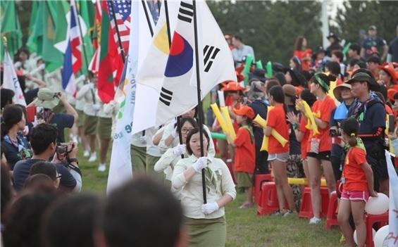 2015년 열린 '걸스카우트 국제야영' 모습. ⓒ한국걸스카우트연맹 제공