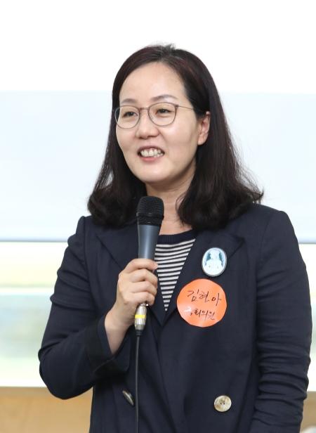 김현아 의원이 강연에 앞서 축사를 하고 있다. ⓒ이정실 여성신문 사진기자
