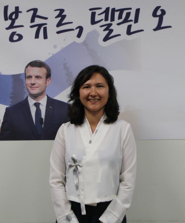 """프랑스 레퓌블리크 앙마르슈 소속 델핀 오 하원의원은 """"남녀 균형, 연령 균형,  다양성 균형이 곧 사회 정의""""라고 말했다. ⓒ신보라 의원실"""