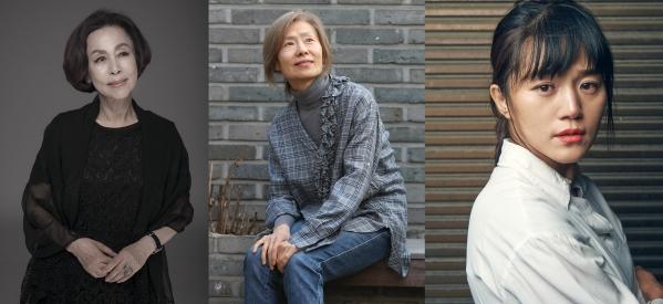 연극배우 손숙, 예수정, 김소희(왼쪽부터) ⓒ서울국제공연예술제 제공