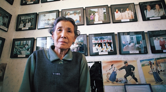 일본군 위안부 피해 사실을 최초로 공개증언한 고 김학순 할머니 ⓒ안해룡