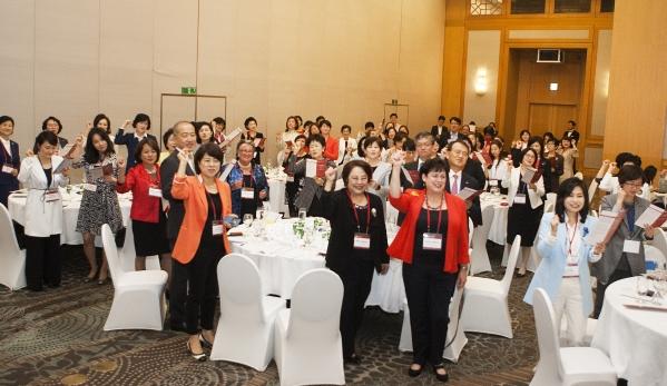 지난해 9월 열린 세계여성이사협회(Women Corporate Directors) 한국지부 발족식 모습. 단체는 이사회에서 주요 의사결정에 참여하는 여성 리더들로 구성된 비즈니스 커뮤니티다. ⓒ이정실 사진기자