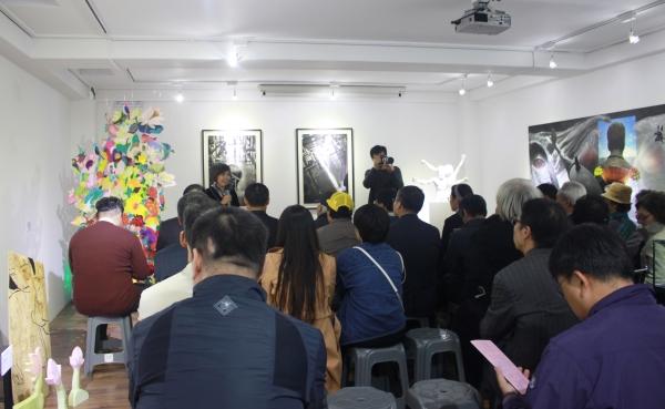 제3회 '보고 싶은 얼굴'전 오프닝 행사가 지난 18일 오후 서울 마포구 이한열기념관 기획전시에서 열렸다. ⓒ강푸름 기자