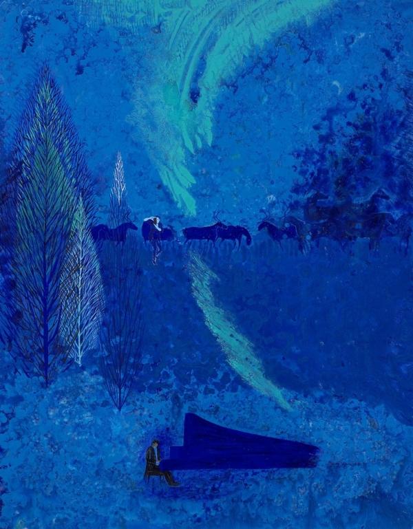 오로라를 넘어서 Over the aurora  145.5x113 cm oil on canvas 2017 ⓒ전명자