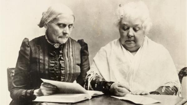 미국 여성참정권 운동의 주역인 수잔 B. 앤서니(왼쪽)과 엘리자베스 캐시 스탠턴. ⓒThe Library of Congress