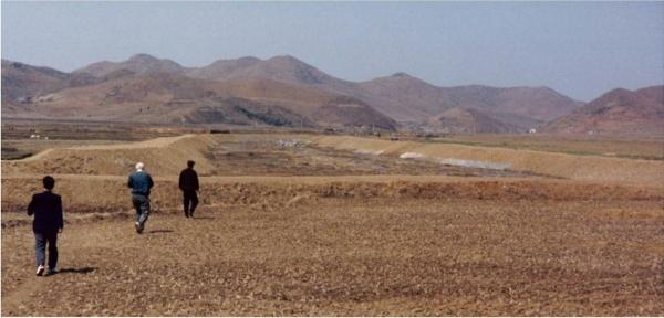 황폐한 북한의 들녘 ⓒ유정애
