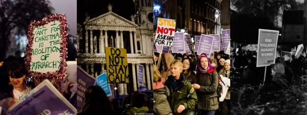 2015~16년 런던의 밤길 시위 현장의 모습. ⓒreclaimthenight.co.uk