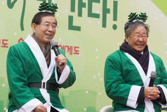 박원순 서울시장이 인사말을 하고 있다.