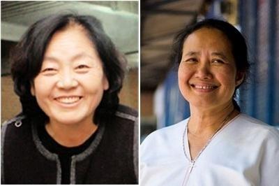 (왼쪽 부터) 전양순 우리원식품 대표, 신시아 마웅( 메타오 병원 원장