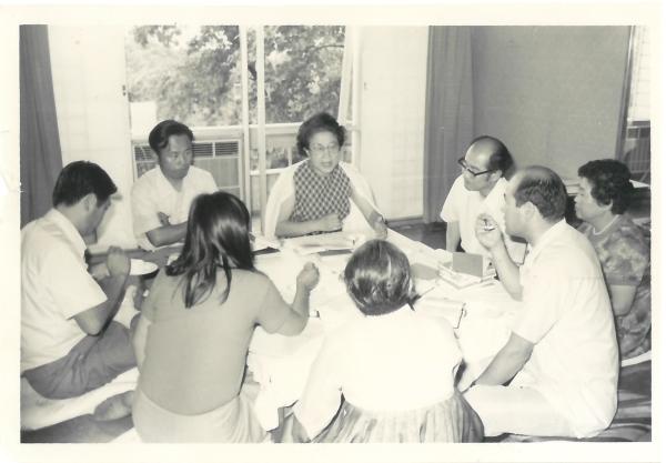 1974년 7월 6일 가족법개정자문위원회 법안 작성회의(범여성가족법개정촉진회) ⓒ국가정법률상담소