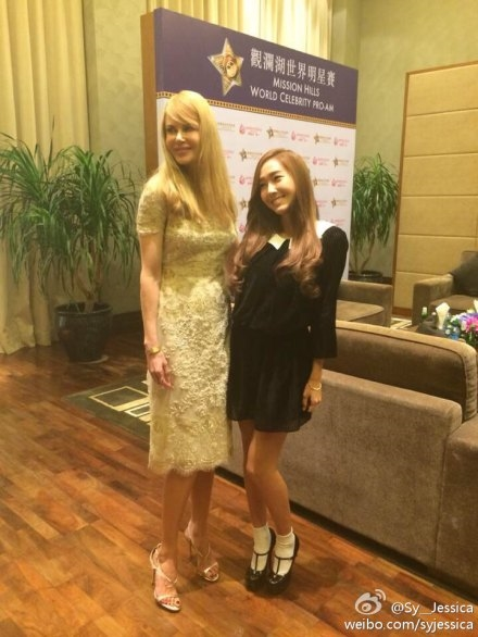 제시카가 니콜키드먼과 함께 포즈를 취하고 있다. ⓒ제시카 웨이보