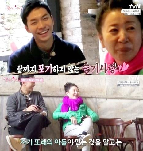 김자옥과 이승기 ⓒtvN 꽃보다 누나 방송 화면 캡쳐
