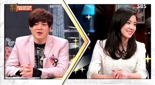 매직아이에 출연한 MC문희준과, 장예원 아나운서 ⓒSBS 방송 캡쳐