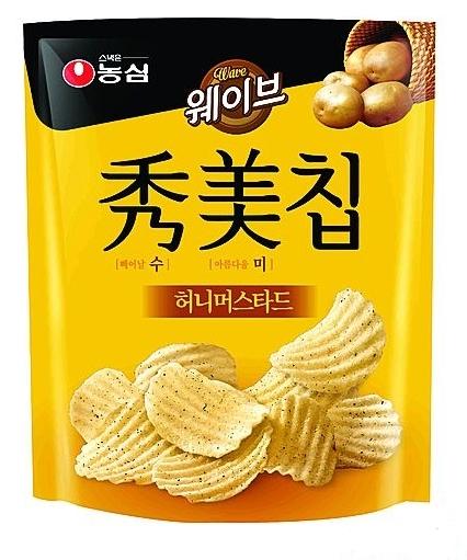 농심이 출시한 달콤한 감자칩 수미칩 허니머스타드