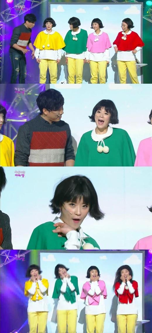 김치녀 발언으로 논란을 빚고 있는 개그콘서트 사둥이는 아빠딸 코너.
